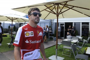 File photo of Fernando Alonso. Courtesy Ferrari F1 team.