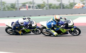 Rajini leads the race in round 3 on Sunday at BIC. Photo by Adrenna Communications.