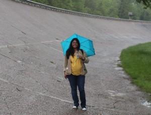 Chitra at Monza. A File photo by Chitra