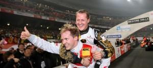 Mattias Ekstrom and Micheal Schumacher at an earlier RoC. Photo by RoC media