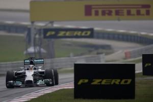 Nico Rosberg tops time sheets in FP2 on Friday at Sepang. A Pirelli photo