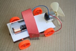 A model Air powered Electric car by L Green Ventures for a competition for students. An L Green Ventures image