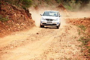 Bangalore pair Chidanand Murthy and Sujith Kumar, ther reighning champions took the lead after the third round in the Indian National Rally Championship (INRC-TSD) in Bangalore on Sunday. Photo by Vivek Phadnis