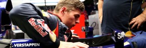 Verstappen debut as the youngest ever to drive  in F1. A Toro Rosso image