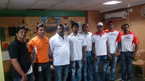 K1000 rally 2014 star riders pose with CoC Bhaskar and Bikes Rally Com chairman, FMSCI, Praneeth Perumal at Press Club on Friday.