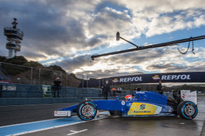 Felipe Nasr tops timesheets on 3rd day of testing at Jerez. A Sauber Motorsport image