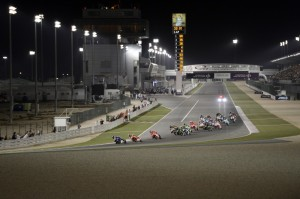 Built in little over a year, the Losail International Circuit track cost $58 million USD. File photo courtesy Repsol Honda team.