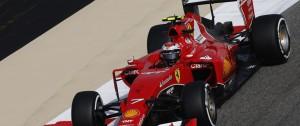 Kimi Raikkonen tops Free Practice 1 at Sakhir on Friday. An FIA image