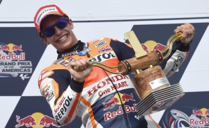 Reigning world champion Marquez returns to winning ways in Austin on Sunday. A Repsol Honda image