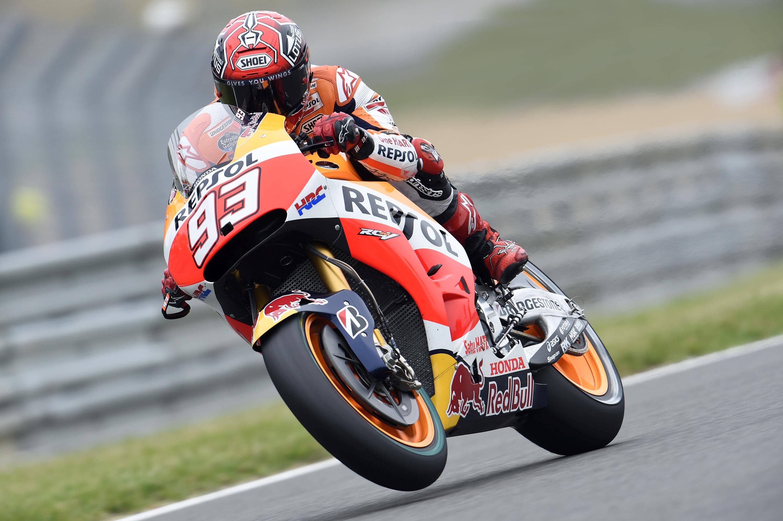 Marc-Marquez Repsol Honda French-MotoGP QP2 16may2015 Bridgestone pic | INDIA in F1
