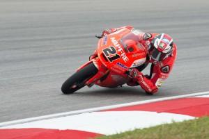 Francesco Bagnaia to start on P8 in Moto3 for Aspar Mahindra Moto3. An Aspar Team image