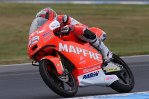 Guevara on Friday in Philip Islands. A Mapfre Mahindra image