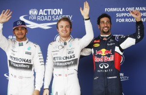 Hamilton (left) takes P2 but looks to seal the Drivers' championship here in Austin later today at the US GP. An FIA image