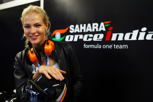 A good qualification brings cheer to the Sahara Force India camp on Saturday. A Force India image