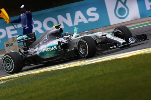 Nico Rosberg on way to victory in Brazil on Sunday. An FIA image