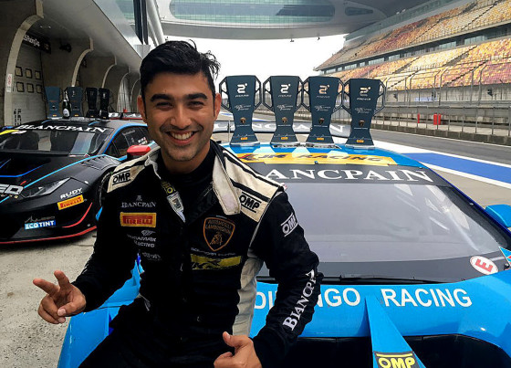 Armaan Ebrahim with trophies (Shanghai)