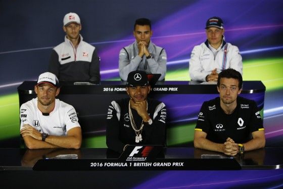 Hamilton-centre-front-row-at-the-Thursday-Press-Conference.-An-FIA-image