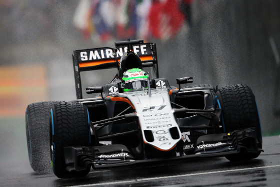 Nico Hulkenberg gets 7th and valuable points at the Brazilian GP on 13 Nov 2016.. Image by Sahara Force India