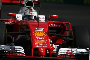 Vettel fastest in FP3 at Yas Marina on Saturday. An FIA image