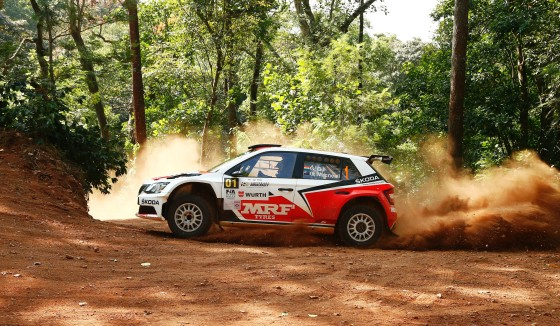 Gaurav Gill who was fastest in all the 12 special stages run on Sunday. Image by Sanjay Sridhar